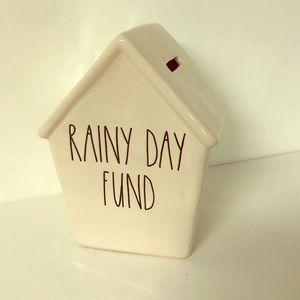 Rae Dunn rainy day fund piggy bank